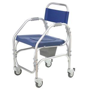 54 CD X PC 46 RR Cadeira de banho sanitaria com 4 rodas Orthos Pacific 1