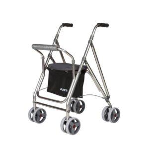 Andarilho com 4 rodas Forta Kanguro HD cinza