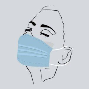 Mascara de protecao com 3 camadas lavavel 3