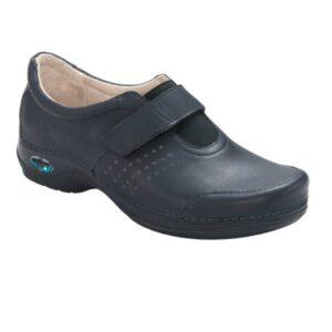 WG103 Sapato com velcro WashGo Milao Azul escuro