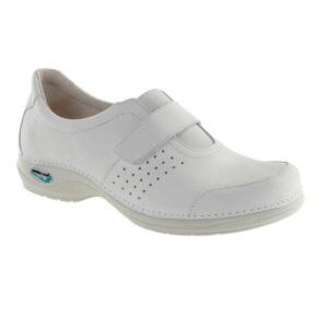 WG110 Sapato com velcro WashGo Milao Branco