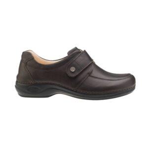 C702 Sapato com tira ajustavel com velcro Comfy Aruba Castanho 1