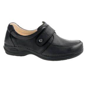 C711 Sapato com tira ajustavel com velcro Comfy Aruba Preto