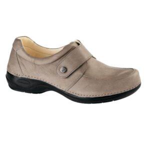 C715 Sapato com tira ajustavel com velcro Comfy Aruba Taupe