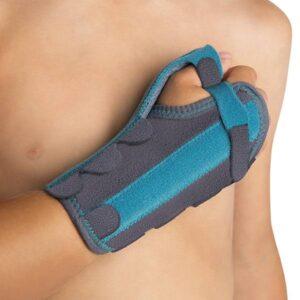 OP1155 Tala de polegar para suporte imobilizador de pulso pediatrico