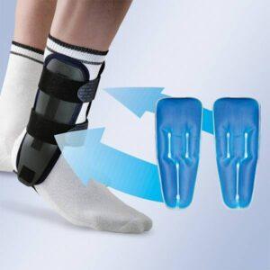 EST 082 Estabilizador de tornozelo com bolsas de gel e placas termoplasticas Orliman