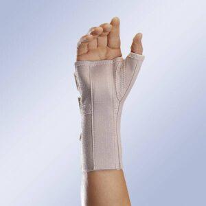 MFP 80 Pulso elastico aberto com tala palmar e polegar comprido Orliman