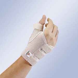 MP 70 Pulso elastico aberto com tala de polegar flexivel moldavel curto Orliman