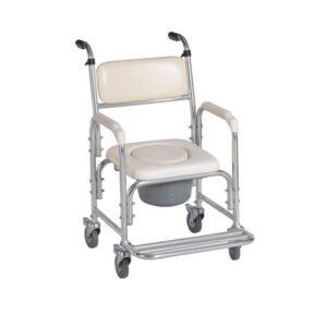 Cadeira sanitária e banho 4 rodas Biort