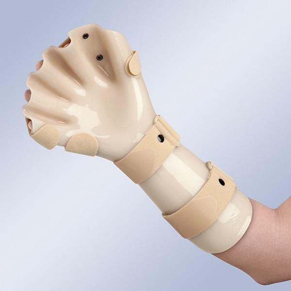 Tala imobilizadora de mão anti espasmódica