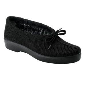 Sapato em malha com cordao Optimum Kiwi Preto